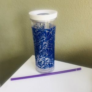 Contigo Tumbler with Straw NWT 20 oz. Blue Floral